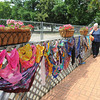 James Neiss/staff photographerLewiston, NY - M. Jacquie Lodico filled the Lewiston Peace Garden with scarfs.