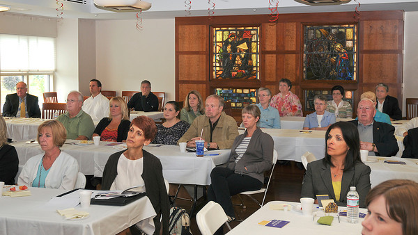 James Neiss/staff photographerLewiston, NY -  Mount St. Mary's Hospital and Health Center hosted a community presentation titled Healthcare Reform: What it will mean for our community and small business, at Our Lady Of Peace in Lewiston for local business people.