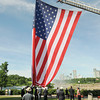 James Neiss/staff photographerNiagara Falls, NY - Niagara Falls first responders assisted in raising the World Memorial Flag at Prospect Point in Niagara Falls State Park. The World Memorial is a tribute to public safety personnel, the armed forces and the families of the fallen on September 11, 2001.