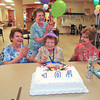 James Neiss/staff photographerNiagara Falls, NY - One hundred and four year-old Frances Genovese is surrounded by her daughters, from left, Anne Scalzo, Marie Chiarenza and Joan Paterson during a birthday celebration at Complete Senior Care at the Health Association of Niagara County, Inc.