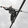James Neiss/staff photographerNiagara Falls, NY - Nik Wallenda practices on the high-wire on May 16. The Wallenda team is confident the wire will be in place on time.