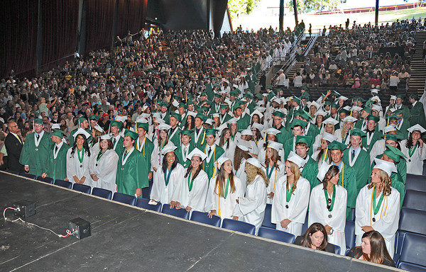 James Neiss/staff photographerLewiston, NY - The class of 2012 entered the Art Park theatre at the Lewiston-Porter High School 61st Commencement.