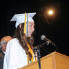 James Neiss/staff photographerLewiston, NY - The class of 2012 Valedictorian Corrine Casal gives the Graduate Message at the Lewiston-Porter High School 61st Commencement at Art Park.