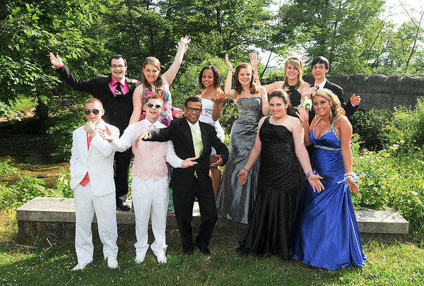 120608 NF Prom 2James Neiss/staff photographerNiagara Falls, NY - Niagara Falls High School students have fun for the camera during a stop at Three Sisters Island for some photos with dates and classmates before the 2012 Senior Prom at The Conference Center Niagara Falls on Old Falls Street. In back are, from left, Jacob Church, Kassandra Johnson, Shakenya Ward-Brassell, Jena Kramer, Ashley Sanders and Ryan Joyce. In front are, from left, Josh Salvo, Kevin Runkle, Trey Parks, Breanna Stone and Marlee Hilliard.