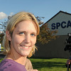 James Neiss/staff photographerNiagara Falls, NY - SPCA of Niagara interim director Amy Lewis at the Lockport Road animal shelter.