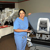 James Neiss/staff photographerNiagara Falls, NY - Interim Chief of Robotic Surgery at Niagara Falls Memorial Medical Center Donna Azam Feldman, M.D., shows off the hospitals new robotic da Vinci Si Surgical System.