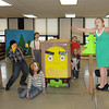 "James Neiss/staff photographerSanborn, NY - Edward Town Middle School students, from left, Dylan Smith, Kyle Otminski, Mara Scive, Trevor Cannon, Jacob Ambrosia, Jordan Hiscock and Hailey Faron practice for the Odyssey of the Mind competition this Saturday in Binghamton. The name of their presentation is ""Ooh Motion Al."""