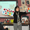 James Neiss/staff photographerNiagara Falls, NY - Elizabeth Orlowski of Wilson introduces student at the Alternative High School to Polish folk art called Wycianki, during International Week activities at the school. Orlowski was invited to be the guest speaker on Polish Day where she also featured Polish dancing, singing and pierogi making.