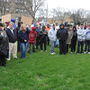 James Neiss/staff photographerNiagara Falls, NY - Ken Hamilton says a few words to those attending a vigil in honor Trayvon Martin at Hyde Park on Wednesday. Martin, on his way to a relatives after buying ice tea and Skittles, was shot by a person identified as being on a neighborhood watch patrol and claiming it was in self defence.