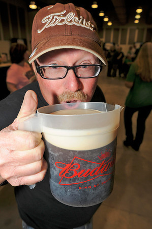 James Neiss/staff photographerNiagara Falls, NY - Duane Rickard of Niagara Falls celebrates St. Patrick's Day with a nice cold Guiness at the 30th Annual St. Patrick's Day Celebration, hosted by the Ancient Order of Hibernians at the Conference Center Niagara Falls.