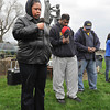 James Neiss/staff photographerNiagara Falls, NY - Wanda Armstrong of the Christ Redemption Tabernacle, left, says a prayer during a vigil in honor Trayvon Martin at Hyde Park. Martin, on his way to a relatives after buying ice tea and Skittles, was shot by a person identified as being on a neighborhood watch patrol and claiming it was in self defence.