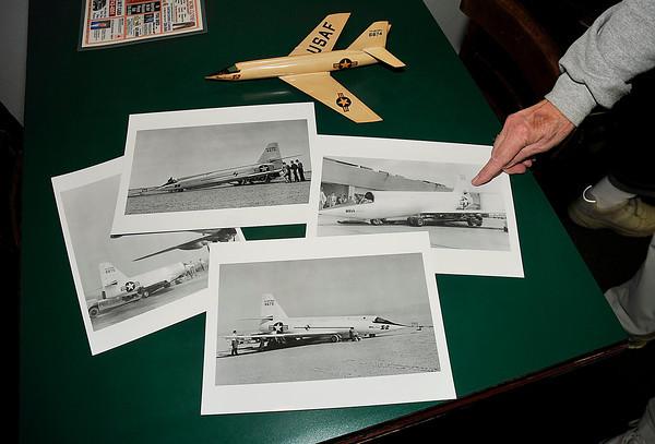 James Neiss/staff photographerNiagara Falls, NY - Former Bell Aerospace employee Truman Partride is a fan of the Bell Aerospace X2.