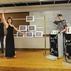 """James Neiss/staff photographerSanborn, NY - Niagara Wheatfield High School students, from left, Sarah Abbey, Cody Weigel, Alexis Vallieu, Justin Sczepczenski and Cristina Gifford practice their skit """"You Make the Call,"""" for the Odyssey of the Mind competition this Saturday in Binghamton."""