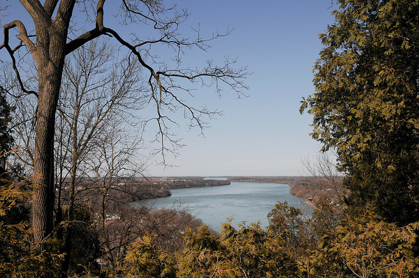 James Neiss/staff photographerQueenston Heights, Ontario - It's a picture perfect view of the Niagara River for tourists visiting Brock's Monument.