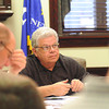 James Neiss/staff photographerTown of Niagara, NY - Town of Niagara Supervisor Steven Richards listens to board members during a meeting at Town hall.