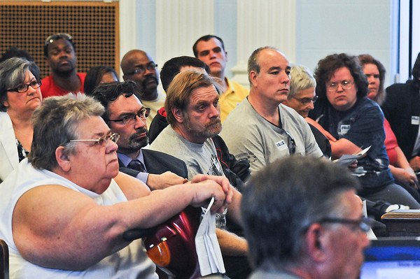 James Neiss/staff photographerNiagara Falls, NY - NFTA officials had a tough crowd to convince of changes to rates and routes during a public meeting at City Hall.