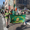 James Neiss/staff photographerNiagara Falls, NY - Young Liam Donovan, 12, of Lewiston and Jordan Flinn, 10, of Wheatfield, lead off the Shortest Parade in the World from Old Falls Street to the front steps of the Conference Center Niagara Falls, all part of the 30th Annual St. Patrick's Day Celebration, hosted by the Ancient Order of Hibernians. At center is this years Grand Marshal Kathleen Florence.