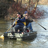 James Neiss/staff photographerLewiston, NY - Chad Hottot of Niagara Falls and Justin Smith of the Town of Niagara set out for a fishing trip on Meyers Lake using a flat bottom boat. The two said there were hoping to catch some Northern Pike.