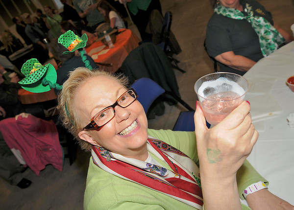 James Neiss/staff photographerNiagara Falls, NY - Maureen O'Castiglione is Irish for the day during the 30th Annual St. Patrick's Day Celebration, hosted by the Ancient Order of Hibernians at the Conference Center Niagara Falls.