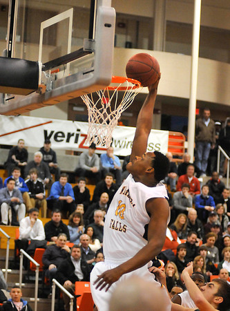 James Neiss/staff photographerBuffalo, NY - Niagara Falls High School basketball player #10 Germaine Crumpton makes a basket in the first quarter of game action against Williamsville North in a Class AA boys basketball sectional semifinal at Buffalo State.