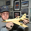 James Neiss/staff photographerNiagara Falls, NY - Truman Partride shows off his model of a Bell Aerospace X2.