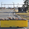 James Neiss/staff photographerTown of Niagara, NY - The Lockport Road gate to the Niagara Air Reserve Base remains closed for construction after the base was locked down for part of the day Wednesday.  A suspicious package at the base caused the closure.