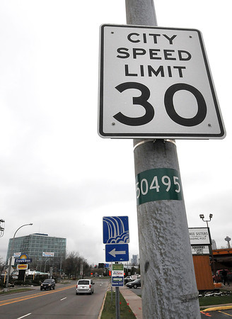 James Neiss/staff photographerNiagara Falls, NY - The current city speed limit is 30 mph, but there is talk about reducing it to 25 mph in the downtown area.
