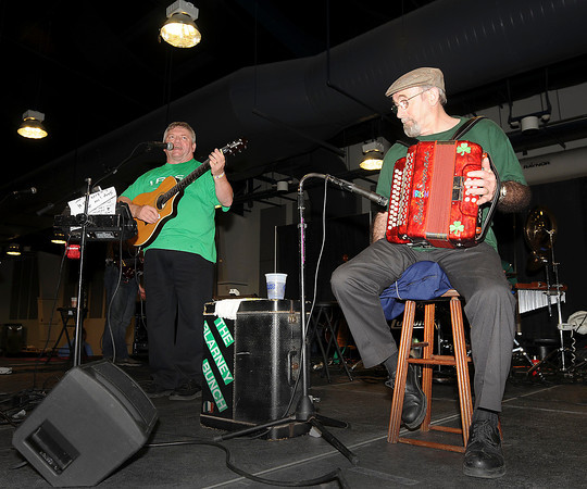 James Neiss/staff photographerNiagara Falls, NY - Members of The Blarney Bunch Dan Bonner, left and Frank Hilliard, play an Irish toon with band members at the 30th Annual St. Patrick's Day Celebration at the Conference Center Niagara Falls.