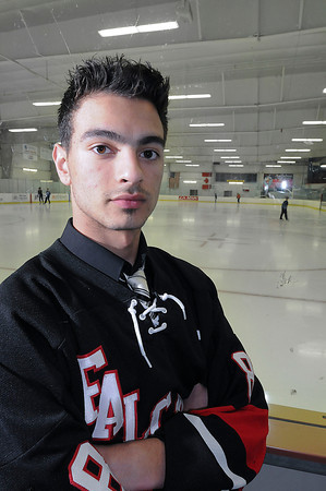 James Neiss/staff photographerAmherst, NY - Niagara Wheatfield's Nick Matos is the Niagara Gazette boys hockey player of the year.