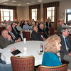 James Neiss/staff photographerNiagara Falls, NY - Niagara Military Affairs Council and Chamber of Commerce members listen to representatives from NIMAC during at meeting at the Heritage Center at the Niagara Falls Air Base on Monday regarding the fate of the 107th Airlift Wing.