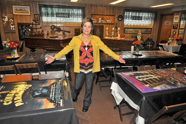 James Neiss/staff photographerNiagara Falls, NY - Deborah Sirianni shows off a banquet room at the former ECHO Club she is reopening as a historic tourist site.