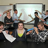James Neiss/staff photographerLewiston, NY - Lewiston Porter High School astronomy fans point out that they only have this plastic toy telescope to scan the heavens with, so they are turning to a fundraising website called DonorsChoose.org to help raise money for a brand new telescope. Students in Mr. Mike Gagnon's class are from left, front: Connor Holfuth, Mary Cathryn Trendell and Jason Garfinkel. In back are: Dylan Duncan, Jordyn Joseph, Kenny Holmes, Declan O'Leary, Shane Morreale and Bryce Gombert.