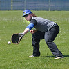 James Neiss/staff photographerSanborn, NY - Niagara County Community College baseball player Dylan Baun fields a ball during practice. The team is getting in one more practice before heading to the nationals in Texas.