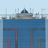 James Neiss/staff photographerNiagara Falls, NY - Workers erect a metal frame on top of the Seneca Niagara Hotel. Officials declined to comment about its use.