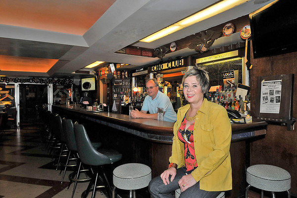 James Neiss/staff photographerNiagara Falls, NY - Carl Sirianni and his sister in-law Deborah Sirianni sit at the ECHO Club bar.The former ECHO Club is reopening as a historic tourist site.
