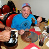 James Neiss/staff photographerNiagara Falls, NY - Ron Hawes of Niagara Falls enjoys an oversize pancake at the Over Dose Cafe on Main Street.