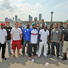 James Neiss/staff photographerNiagara Falls, NY - The Buffalo Bills rookies pose for a group photo at Prospect Point while visiting Niagara Falls State Park.