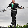 "James Neiss/staff photographerNiagara Falls, NY - Aerial Code 716: Daredevil Nik Wallenda, said ""It's good to be the boss,"" when asked if he was allowed to take personal calls while on the job. Wallenda continues his daily practice on the high-wire in front of the Seneca Niagara Casino & Hotel."