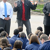 James Neiss/staff photographerNiagara Falls, NY - Tightrope walker Nik Wallenda stopped by the Kalfas Magnet School to talk about living a healthy lifestyle with 5th grade students. Wellanda announced his plan to walk across the Niagara Gorge Friday, June 15, during a press conference at Prospect Point, Niagara Falls State Park earlier in the day.