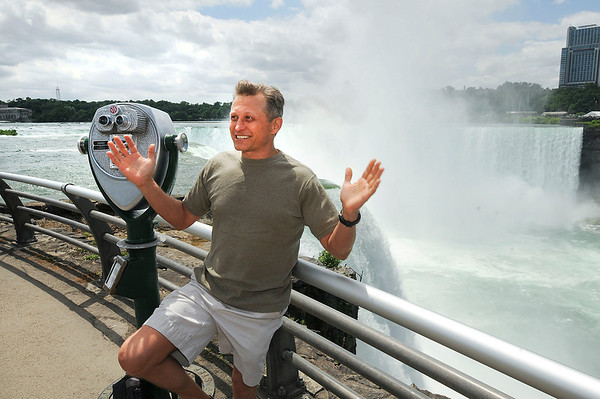 James Neiss/staff photographer Niagara Falls, NY - Standing approximately where high-wire walker Nik Wallenda's 2 inch wire will cross the Niagara Gorge, former Russian circus acrobat Vladimir Anoufriev says Wallenda's biggest challenge will be the wind as he crosses.