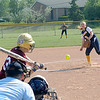 James Neiss/staff photographerNiagara Falls, NY - Niagara Falls girls softball pitcher #9 Kelsi Leo pitches the ball during playoff game action against Orchard Park.