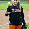 James Neiss/staff photographerWilson, NY - Wilson High School softball pitcher Lindsay Bryer.