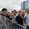 James Neiss/staff photographerNiagara Falls, NY - Daredevil Nik Wallenda fans get a good look at the aerialist as he continues daily practice on the high-wire in front of the Seneca Niagara Casino & Hotel.