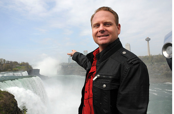 James Neiss/staff photographerNiagara Falls, NY - Tight rope walker Nik Wallenda announces his plan to walk across the Niagara Gorge Friday, June 15, during a press conference at Prospect Point, Niagara Falls State Park.