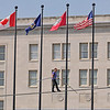 James Neiss/staff photographerNiagara Falls, NY - Daredevil high-wire walker Nik Wallenda passes the Power City Building during his last day of practice in front of the Seneca Niagara Casino, before his attempted walk across the falls scheduled for June 15.