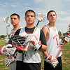 James Neiss/staff photographerWheatfield, NY - Niagara Wheatfield lacrosse players Brennan Ferguson, Zach Dubuc and Rob McMicking.