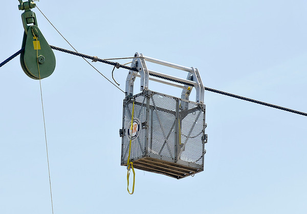 James Neiss/staff photographerNiagara Falls, NY - First responders will use this High Voltage Wire Spacer Cart as the primary rescue device should Nik Wallenda need assistance during his high-wire walk across the Niagara Gorge.