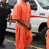 "James Neiss/staff photographerLockport, NY - Matthew ""Bones"" Davis heads to Niagara County Court for an arraignment."