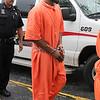 "James Neiss/staff photographerLockport, NY - Matthew ""Bones"" Davis heads to Niagara County Court for an arraignment."