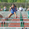 James Neiss/staff photographerLewiston, NY - Grand Island track athlete Thalia Melendez, second from left, clears a hurdle on her way to win the girls 100 hurdles race against Lewiston Porter.
